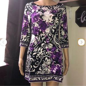WHBM floral mini dress size S